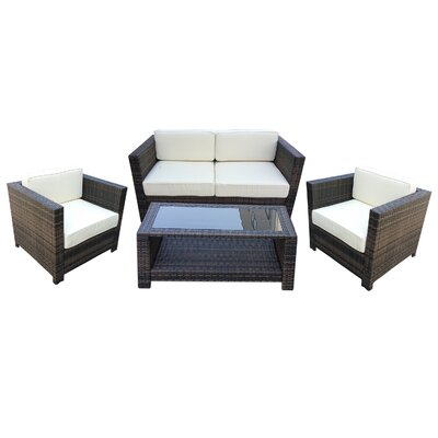 4 Piece Seating Group with Cushion