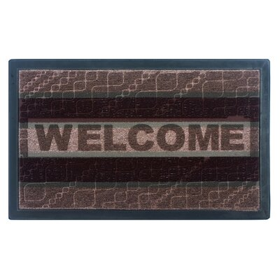 Welcome Doormat Color: Brown / Blue