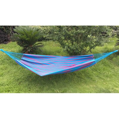 Cotton and Polyester Camping Hammock Color: Blue/Purple