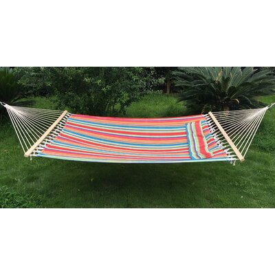 Cotton and Polyester Tree Hammock Color: Red/Green/Blue