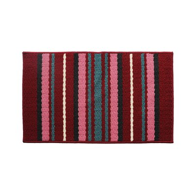 Red/Pink Rug Rug Size: 16 x 26