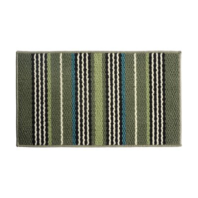 Green/Brown Area Rug Rug Size: 16 x 26