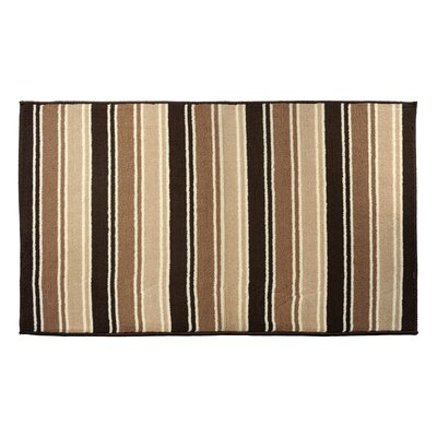 Brown Area Rug Rug Size: 23 x 39