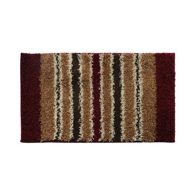 Red/Brown Area Rug Rug Size: 24 x 39