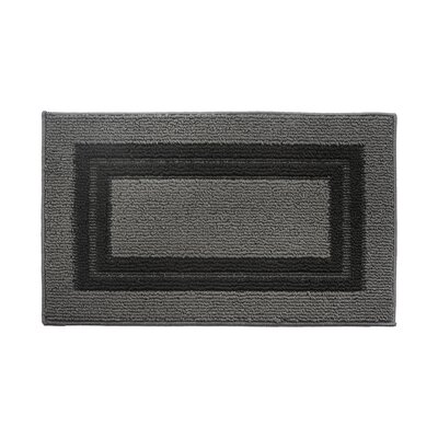 Gray/Black Area Rug Rug Size: 16 x 26