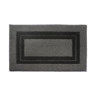 Gray/Black Area Rug Rug Size: 16 x 26