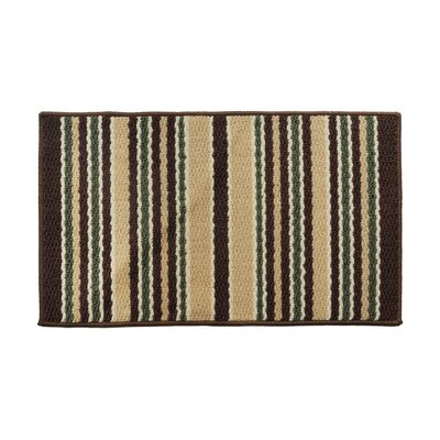 Brown/Green Area Rug Rug Size: 18 x 26