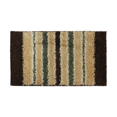 Olive Green/Brown Area Rug Rug Size: 16 x 26
