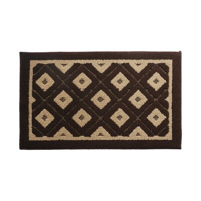 Brown/Beige Area Rug Rug Size: 18 x 28