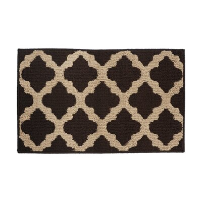 Brown Area Rug Rug Size: 16 x 26