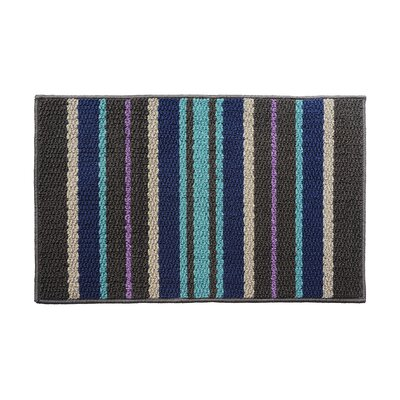 Blue/Gray Area Rug Rug Size: 18 x 26