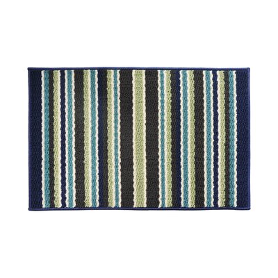 Blue/Green Area Rug Rug Size: 18 x 26