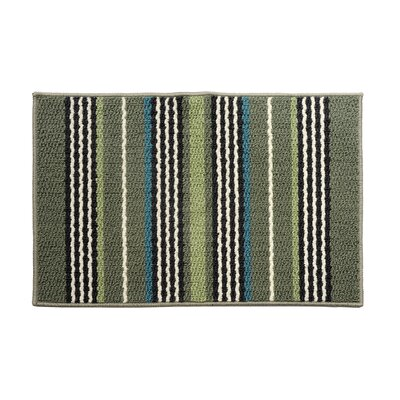 Green/Brown Area Rug Rug Size: 18 x 26