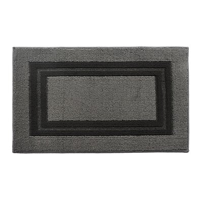 Gray/Black Area Rug Rug Size: 18 x 28