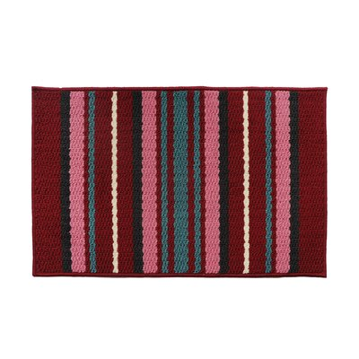 Red/Pink Rug Rug Size: 18 x 26