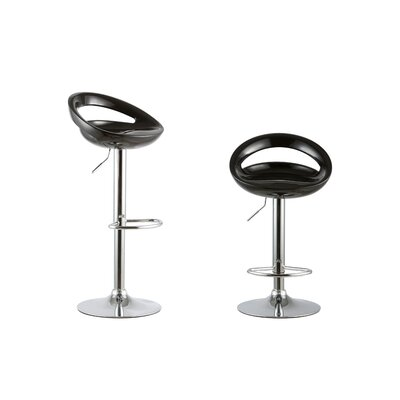 Adjustable Height Swivel Bar Stool Set Color: Black