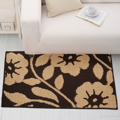 Brown/Black Area Rug Rug Size: 23 x 39
