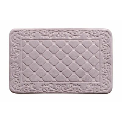 Memory Foam Bath Rug Color: Lavender