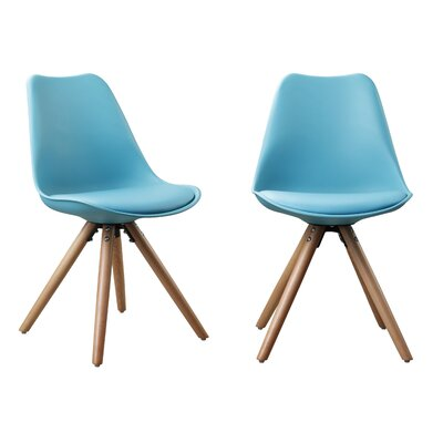 Plastic Dinning Side Chair Finish: Blue