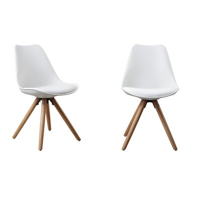 Plastic Dinning Side Chair Color: White