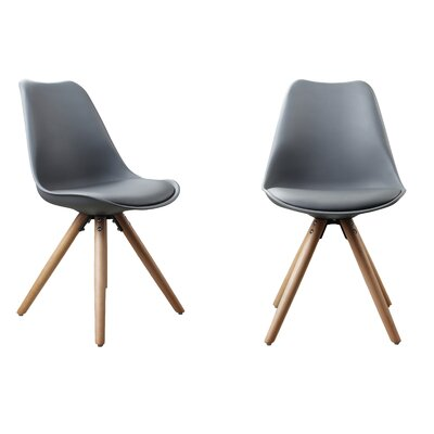 Plastic Dinning Side Chair Color: Gray