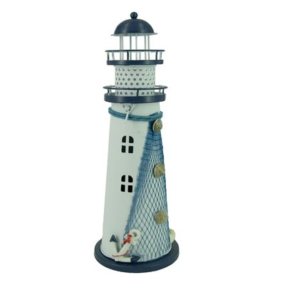 Nautical Anchor Metal Vintage Openwork Ocean Lighthouse Color Changing LED Lantern Night Light