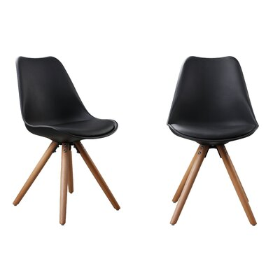Plastic Dinning Side Chair Color: Black