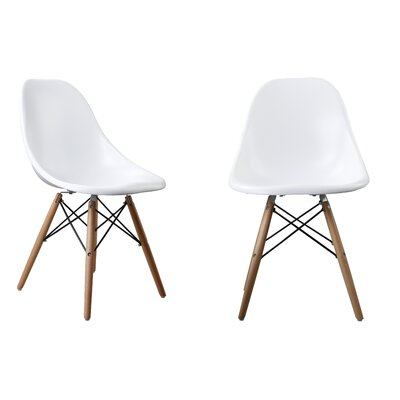 Modern Designer Plastic Dinning Side Chair Color: White