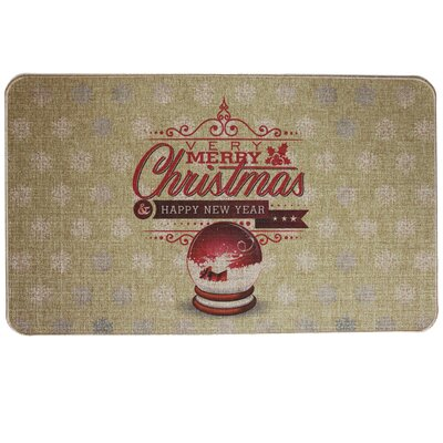 Cotton and Linen Printed Rubber Backed Doormat