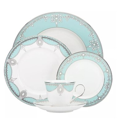 Elegant 48 Piece Dinnerware Set Color: Light Blue G1564A-49