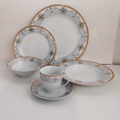 Elegant 24 Piece Dinnerware Set G1348-24