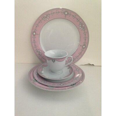 Elegant 48 Piece Dinnerware Set Color: Pink G1564B-49