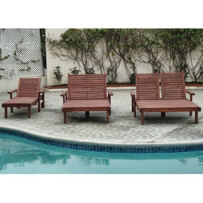 Sun Double Chaise Lounge Finish: Super Deck