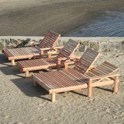 Beach Chaise Lounge Finish: Mahogany