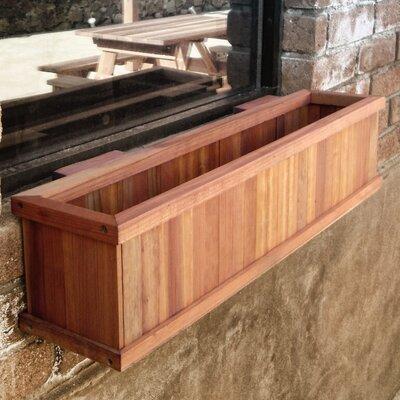 Best Redwood Rectangular Window Box - Finish: Clear, Size: 8.5