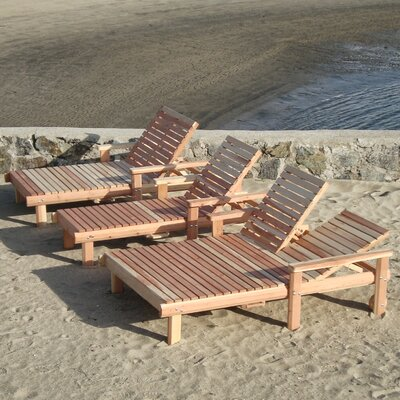 Beach Double Chaise Lounge Finish: Clear