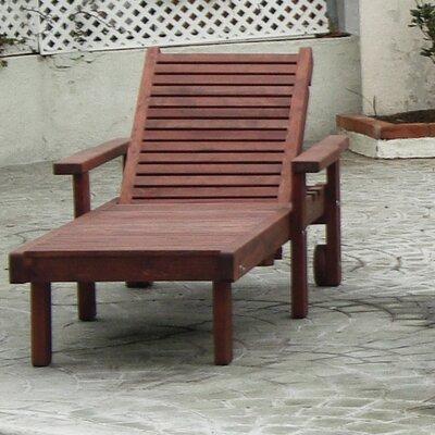 Sun Chaise Lounge Finish: Mahogany