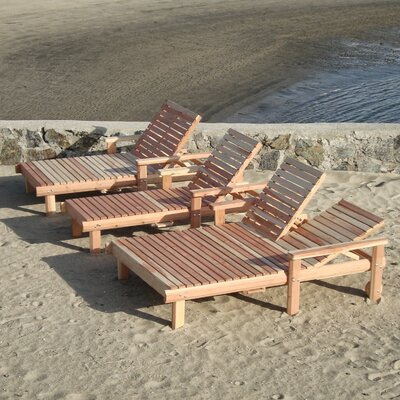 Beach Wide Chaise Lounge Finish: Super Deck