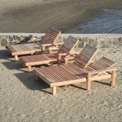 Beach Chaise Lounge Finish: Clear
