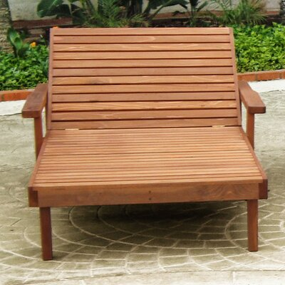 Summer Wide Chaise Lounge Finish: Mahogany