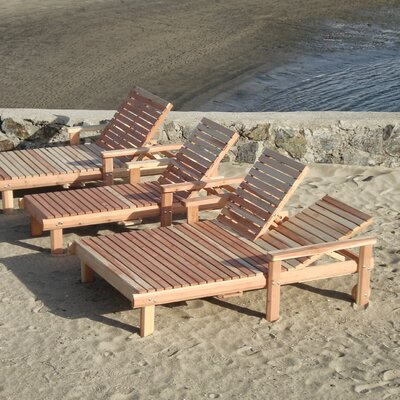Beach Double Chaise Lounge Finish: Super Deck