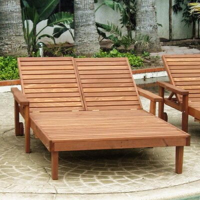 Summer Double Chaise Lounge Finish: Mahogany