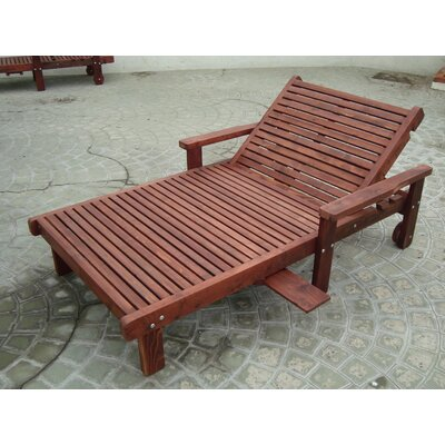 Thibeault Wheel Wood Wide Chaise Lounge Finish: Mahogany