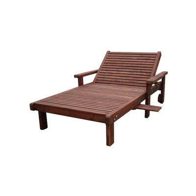 Thibeault Wood Wide Chaise Lounge with Arms Finish: Mahogany
