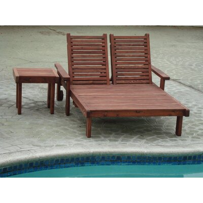 Gerome Double Chaise Lounge with Arms Finish: Mahogany