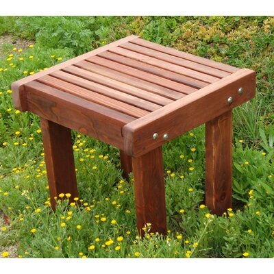 Varda Wooden Side Table Color: Mahogany