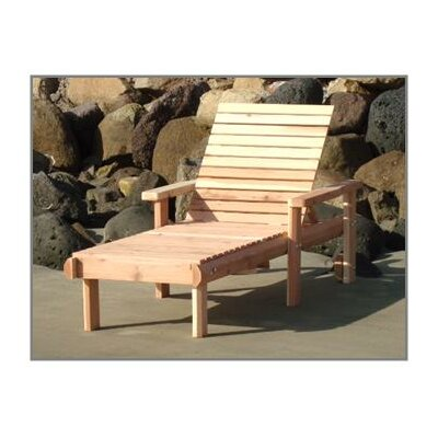 Henry Rustic Beach Single Wood Chaise Lounge Finish: Clear
