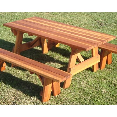 Picnic Table Finish: 1910-Super Deck, Table Size: 60