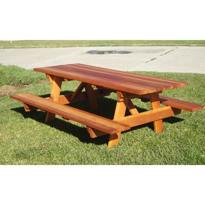 Picnic Table Finish: 1910-M Mahogany, Table Size: 96 L x 54 W