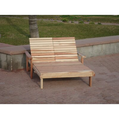 Henry Beach Double Wood Chaise Lounge Finish: Clear